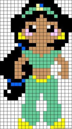 Disney Jasmine perler bead pattern