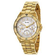 Bulova Bracelet Womens Quartz Watch 97N109 *** Click image for more details.Note:It is affiliate link to Amazon. #denver