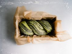 In the case of this babka, the typical chocolate mixture is replaced with a buttery black sesame and matcha filling that's equally rich and just as satisfying. #matcha #breakfast