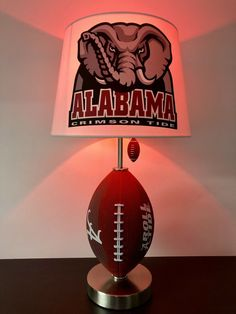 Black NCAA Arkansas Razorbacks Adult NCAA Alumni Lamp