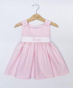 Pink Gingham Personalized Sash Jumper - Infant, Toddler & Girls #zulily #zulilyfinds