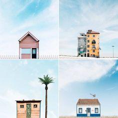 Tiny Lonely Houses Photography Ces petites maisons solitaires photographiées au Portugal sont pour Sejkko, photographe à l'origine de cette série, une grande source d'inspiration. Derrière un ciel bleu parsemé de nuages, il fait ressortir de manière minimaliste le caractère singulier de ces maisons semblant perdues au milieu de nulle part.