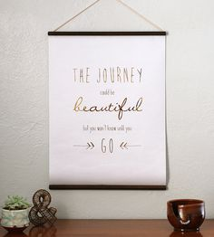 The Journey Gold Foil Wall Hanging by Cristin Rae Knitwear + Accessories on Scoutmob Shoppe
