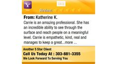 Carrie is an amazing professional. She has an incredible ability to see through the...