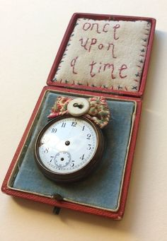Image of Once upon a time... box and clock brooch