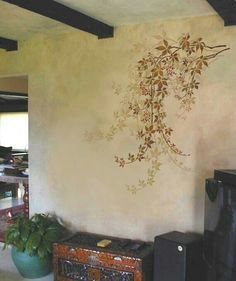 Wall stencil Virginia Creeper helps to bring the nature inside! This large wall stencil makes a stunning stencil accent on any wall space. Modern wall stencils for easy DIY wall decor. Large Wall Stencil, Stencil Walls, Wall Stenciling, Stencil Art, Bathroom Stencil, Faux Painting Walls, Leaf Stencil, Large Stencils, Art Mur