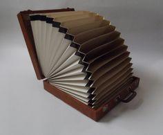 vintage platenkoffer LP koffer vinyl platen 12 door ProfessorVintage
