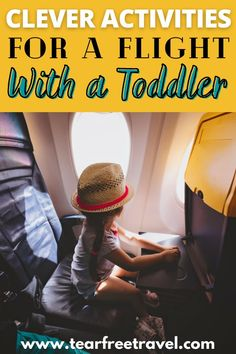 Over time, I've developed a few tricks up my sleeve for keeping kids entertained on an airplane. I am always checking out posts and ideas for the best airplane activities for toddlers and the best toddler toys for airplane travel. #toddlertravel #traveltips #momtravel #traveltips #familytravel