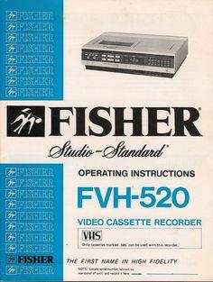 ORIGINAL VINTAGE 1981 FISHER FVH - 520  CASSETTE RECORDER MANUAL