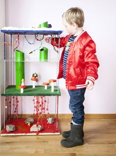 39 Coolest Kids Toys You Can Make Yourself.Is that Mario World? Homemade Puffy Paint, Homemade Toys, Diy For Kids, Cool Kids, Crafts For Kids, Super Mario Brothers, Mario Bros, Old Sheets, Paint Your House