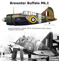Buffalo Mk.I Navy Aircraft, Ww2 Aircraft, Fighter Aircraft, Fighter Jets, Military Jets, Military Aircraft, Commonwealth, Brewster Buffalo, Ww2 Planes