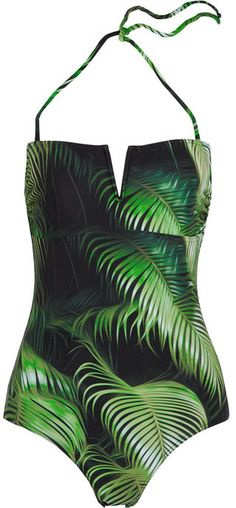 Finds + Albertine Palombaggia printed bandeau swimsuit