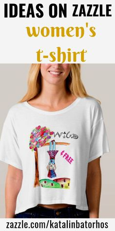 Boho WILD FREE Watercolor Heart Colorful Pink GIrl T-shirt! WILD ONE Girl hanging upside down from a whimsical Heart leaf tree. Wild & Free! Original watercolor art, handwritten calligraphy text by the artist. #zazzle #fashion #leggings #women #fashionidea #fun #yoga #comfortable #boho #womenfashion #colorful