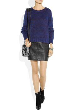 Alexander Wang Croc-effect leather mini skirt