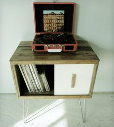 Reclaimed Wood Record Cabinet | Home Furniture | Modern Arks | Scoutmob Shoppe | Product Detail