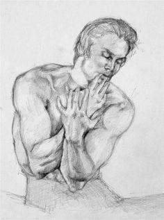 "M.arte: ANTOLOGIA   ""M. Barisnikhov"" lapis sù carta. 1987"