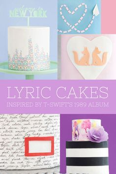 Taylor Swift Inspired Cakes