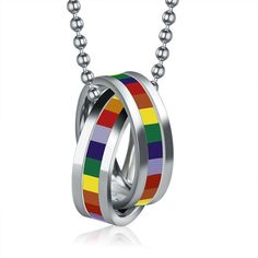 - This is perfect for any LGBT Supporters! - While Supplies Last! Limit 10 Per Order Please allow 4-6 weeks for shipping Item Type: Necklace Chain Type: Link Chain Length: 50cm Material: Stainless Ste