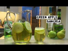 Apple Pucker Drinks, Green Apple Moscato Sangria, Green Apple Vodka, Sour Apple Pucker, Sangria Drink, White Wine Sangria, Alcoholic Beverages, Vodka Punch, Cocktails