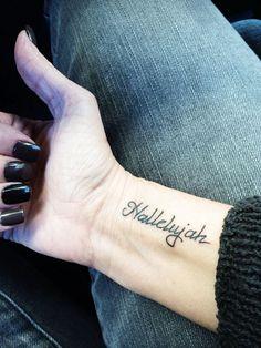 http://tattoo-ideas.us/wp-content/uploads/2014/04/Hallelujah.jpg Hallelujah #Minimalistic, #Religioustattoos, #Wordstattoos, #Wristtattoos