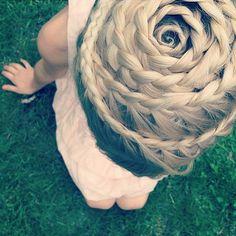 beautiful, braid, girl, hair