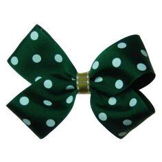 #USF polka dot bow.
