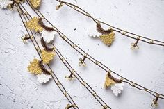 "turkish lace - needle lace - crochet - oya necklace - 138.19"" - free worldwide shipment with UPS - fatma-011"