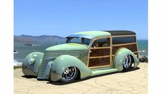 Woody... dig those oddly high wheel arches in the fenders.