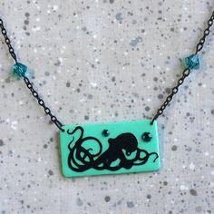 Octopus Papercut Pendant