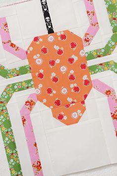 Halloween Spider Quilt Block