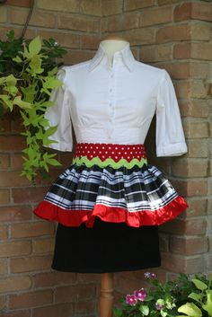 Cute Christmas Apron!  The bottom is a layer is a towel, great for wiping your hands!