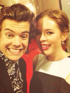 Harry Styles with Tanya Burr (for those of you who don't know who she is, she's a British Youtuber, she also has a beauty blog, she's amazing!!!)