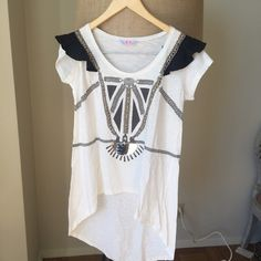 Sass and Bide Embellished Tshirt style is called Futuregrand. In excellent condition size is small sass & bide Tops Tees - Short Sleeve