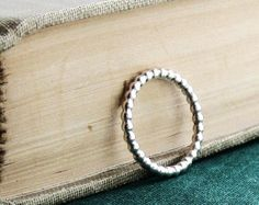Sterling Silver Ball Patterned Ring