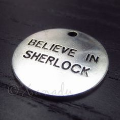 5PCs Believe In Sherlock Wholesale Silver Plated Charms - C5614