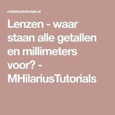 Lenzen - waar staan alle getallen en millimeters voor? - MHilariusTutorials