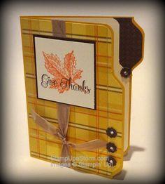 File Folder Inspired Card using the Stampin' Up! Envelope Punch Board. StampUpaStorm.com