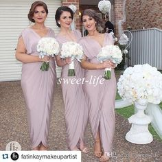 Sexy Plus Size Bridesmaid Dresses Sheath Ankle Length Front Split Deep V Neck Cap Sleeves 2016 Cheap Women Formal Evening Gowns Party Dress Online with $76.3/Piece on Sweet-life's Store | DHgate.com