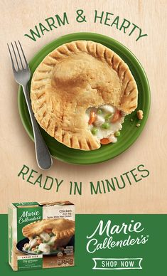 Crave-able deliciousness is only a few minutes away with Marie Callender's Chicken Pot Pie. Tap the pin to discover more of our pot pie varieties. Potato Recipes, Pork Recipes, Low Carb Recipes, Chicken Recipes, Vegan Recipes, Cauliflower Recipes, Recipies, Cooking Recipes, Chipotle