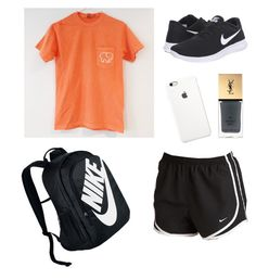 """School Clothes #12"" by lily141 on Polyvore featuring NIKE, Yves Saint Laurent and plus size clothing"