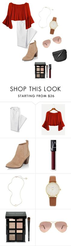 """""""Fall Outfit"""" by lilhaileyt on Polyvore featuring Lands' End, New Look, NARS Cosmetics, Kendra Scott, Kate Spade, Bobbi Brown Cosmetics, Ray-Ban and Topshop"""