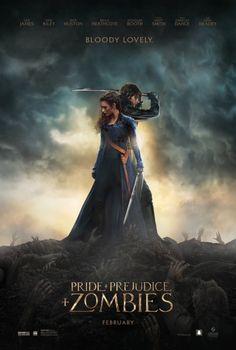 Orgullo y prejuicio y zombis cartel de película