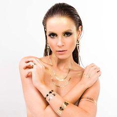 Tatuagem Removivel Dourada