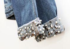 Jean jacket with jewels