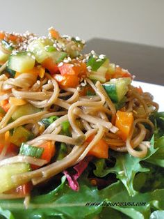la pure mama.: Chilled Asian Noodle Salad