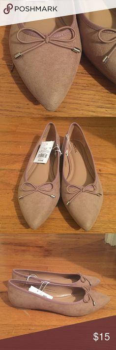 • MERONA • NWT • faux suede flats Merona flats. NWT. Size 7.5. Gorgeous tan faux suede. Merona Shoes Flats & Loafers