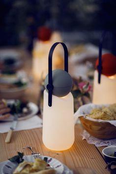 A Portable Lamp That Turns into a Flashlight - Design Milk Light Table, Lamp Light, Lamp Design, Lighting Design, Mood Light, To Go, Light Project, Work Lights, Light Design