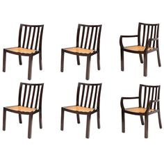 Six Michael Taylor for Baker Dining Chairs