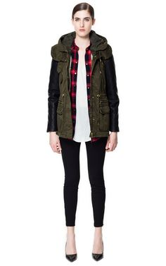 COMBINATION LEATHER PARKA - Coats - Woman - ZARA United States....is it too late to buy this?