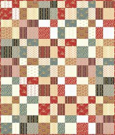 Little House on the Prairie - Four Patch Frolic Free Quilt Pattern